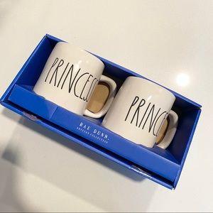 NWT Rae Dunn Prince & Princess Mug Set